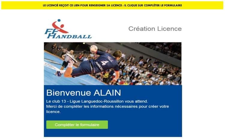 Nouvelle procédure de licences - Hand Bievre Terres Froides - Club de Handball en Isère