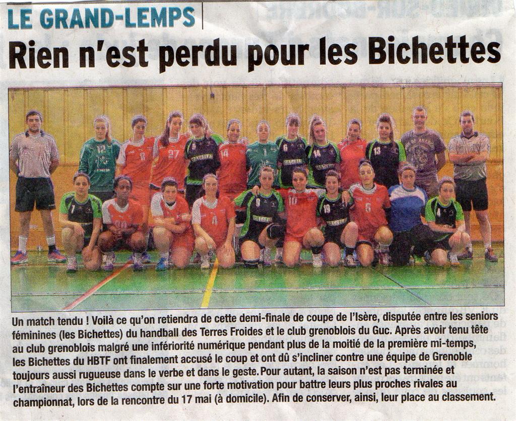 Article Dauphiné Libéré du 17 mai 2014