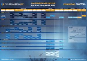 CALENDRIER mondial handball 2017