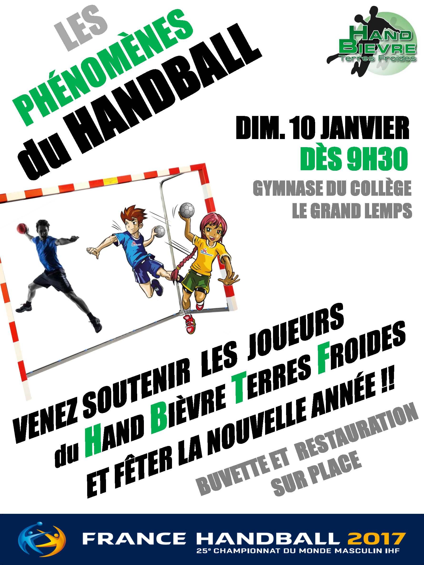 Journée 100% Handball pour la nouvelle année ! - Hand Bievre Terres Froides - Club de Handball en Isère