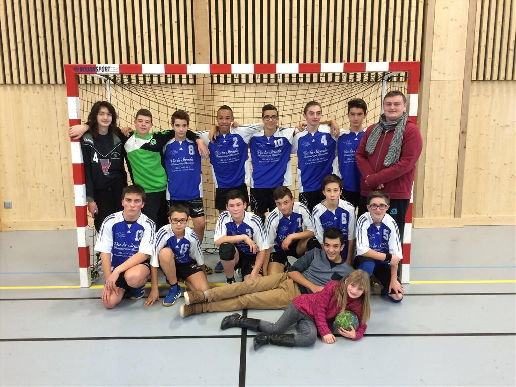 Une victoire écrasante pour les -16G - Hand Bievre Terres Froides - Club de Handball en Isère