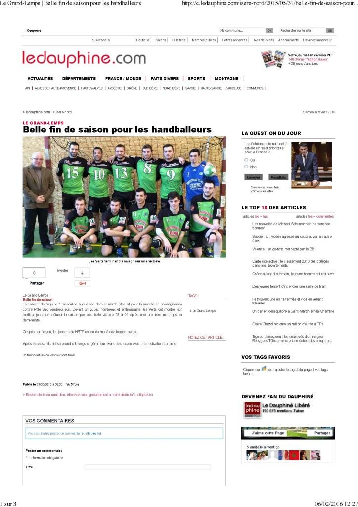 Le Grand-Lemps _ Belle fin de saison pour les handballeurs_Page_1