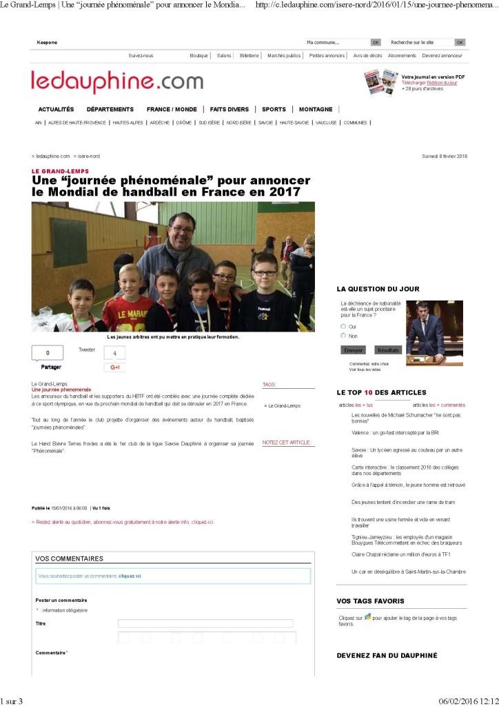 """Le Grand-Lemps _ Une """"journée phénoménale"""" pour annoncer le Mondial de handball en France en 2017_Page_1"""