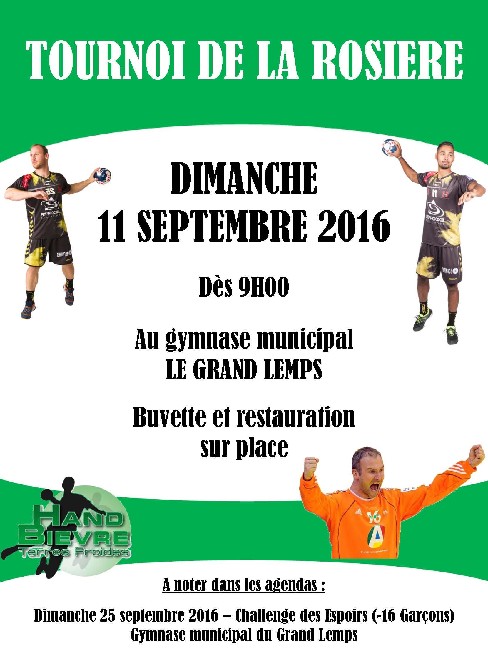 Tournoi de La Rosière 2016 - Hand Bievre Terres Froides - Club de Handball en Isère