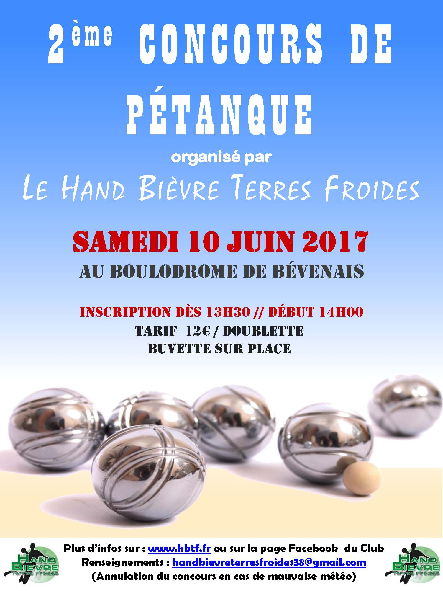 2ème concours de pétanque du HBTF - Hand Bievre Terres Froides - Club de Handball en Isère