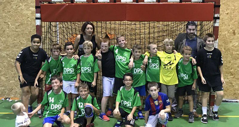 Les -11M montrent leurs progrès devant leur public. - Hand Bievre Terres Froides - Club de Handball en Isère