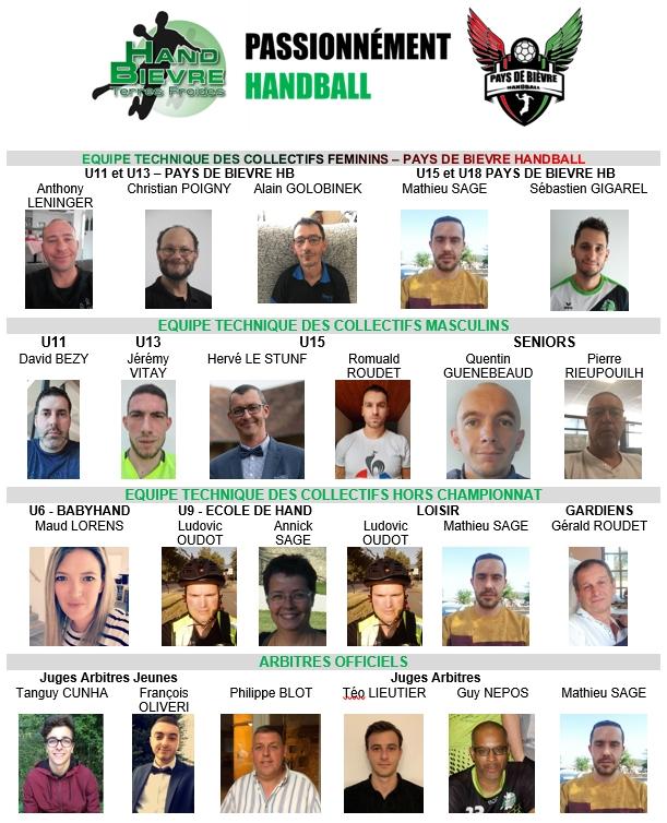 L'équipe technique - Hand Bievre Terres Froides - Club de Handball en Isère