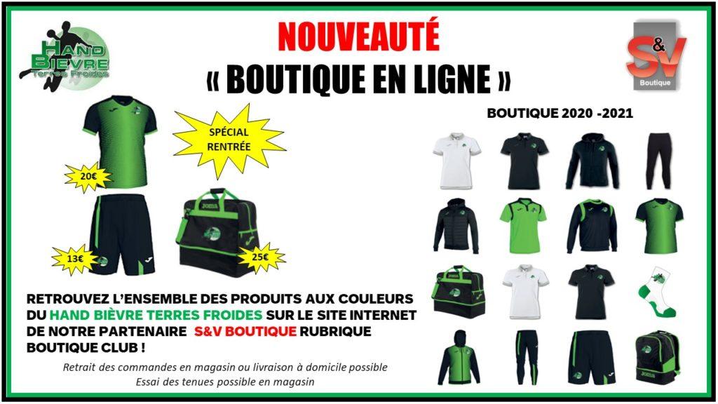 Boutique - Hand Bievre Terres Froides - Club de Handball en Isère