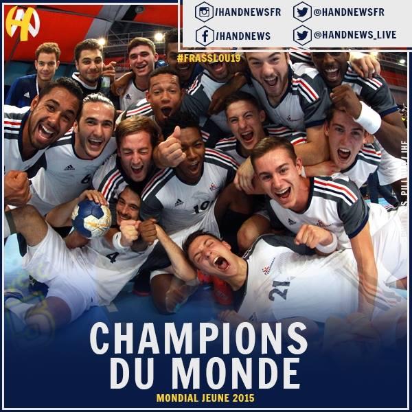 Les U19 sont Champions du monde !! - Hand Bievre Terres Froides - Club de Handball en Isère