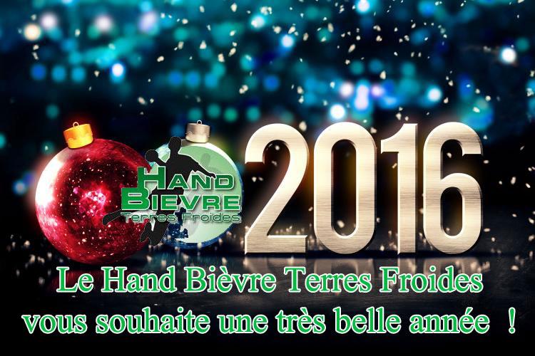 Bonne année 2016 ! - Hand Bievre Terres Froides - Club de Handball en Isère