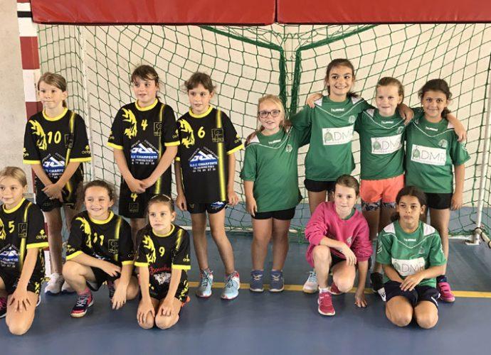 Les -11 Féminines se font plaisir pour leur 1er match - Hand Bievre Terres Froides - Club de Handball en Isère