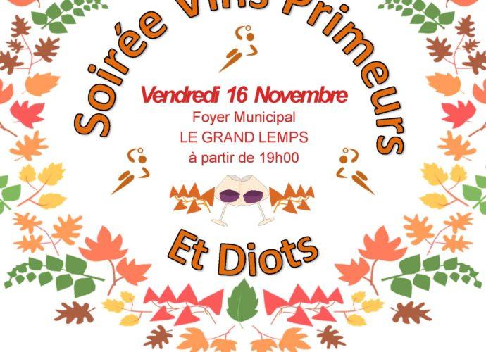 La soirée Diots et vins primeurs 2018 - Hand Bievre Terres Froides - Club de Handball en Isère