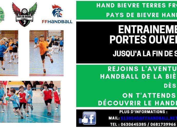 Opération Portes Ouvertes - Hand Bievre Terres Froides - Club de Handball en Isère